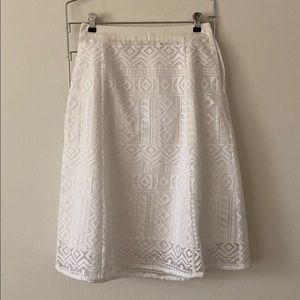 White Lace Madewell Skirt